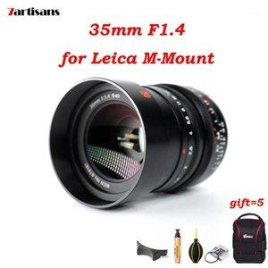 기타 CCTV 카메라 7artisans 35mm F1.4 Leica M 장착 렌즈 수동 초점 MF M-M M240 M3 M6 M7 M8 M9 어댑터 L 소니 E FUJI1