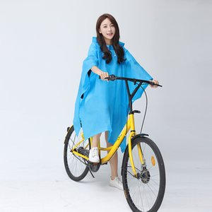 High Quality Bike Raincoat Mens Womens Cycling Bicycle Cape Poncho Hooded Windproof Rain Coat Mobility Scooter Cover