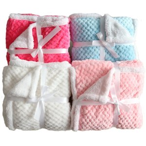 Baby Blanket Thermal Fleece Pineapple Grid Blanket Infant Swaddle Envelope Bebe Stroller Wrap For Newborn Baby Bedding Blankets 201022