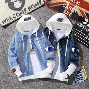 High Quality Casual Jean Jacket Men Denim Jackets Long Sleeve with Nood Patchwork Cotton Japanese Streetwear Bomber Jacket Men