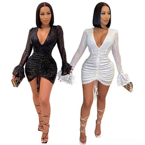 IKRU 2019 Nouvelle Arrivée Automne et Vestidos Runway Femmes Elegant Bow Robe Tweed Collier Chic Sleeve Femme Fashion Robes Longues Hiver Y190514