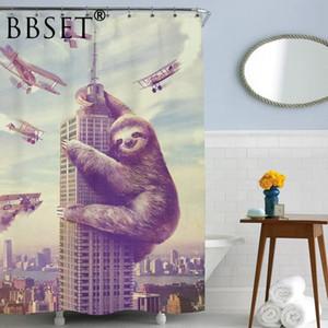 Cartoon Shower Curtain divertente Sloth modello impermeabile multi-formato stampato Cortina De Bano Bagno Decor con 12 ganci X1018