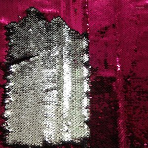 Blitter 65x45CM RosePink Серебряная блестящая двусвязка Двухкольный Обратимый блестящий ткань атласная задняя Bling Bling Bling Fabric для мешкового кошелька D1