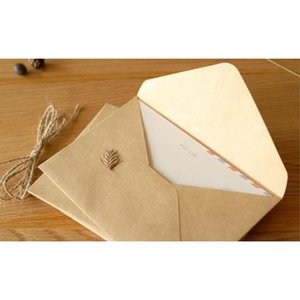 Commercio all'ingrosso- 100pcs 16x11cm retro kraft fai da te busta multifunzione / buste regalo per matrimoni / carta kraft weddin jllefb sport777