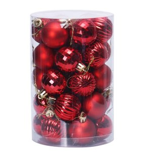 34Pcs Christmas Tree Ball Sets 6cm Christmas Decorations Wedding Party Ornaments Xmas Tree Ball Bauble Hanging Decor Gifts