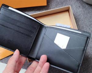 Çanta Erkek Walletd Çantalar Renkli Para Kart Sahibinin Temizle Çantalar Cep Zippy Paris Ekose Stil Erkekler Hakiki Deri Cüzdan Kutusu M6JG