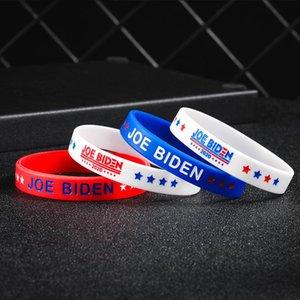 Joe Biden Başkanı Bileklik Silikon Bilezik Için Unisex Kauçuk Bilezikler Bileklik Bilezik 2020 ABD Amerika Oylama Aksesuarları OWD590