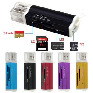 Fabrikpreis Neu für Micro SD SDHC TF M2 MMC MS Pro Duo Alle in 1 USB 2.0 Multi Memory Card Reader J09T Feuerzeug Shottertrop Versandkosten