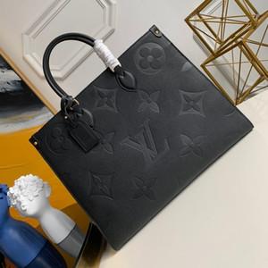 L0U15 VU1TT0N OnTheGo M44921 Fashon épaule messager sac à main twist en cuir véritable sac shopping poches Totes