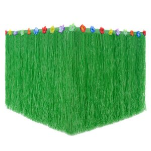Hawaiian Straw Table Skirt Fringe Party Decoration for Graduation Ceremony or Costume Party 276CMx75CM