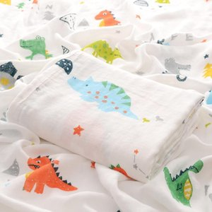 2020 summer bamboo fiber gauze baby wrap towel double-layer baby bag by multi-functional children's bath towel