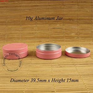 50pcs / lot Promotion 10G Pink Cream Jar Mignon Aluminium Cosmetic Bottle 1 / 3oz Femmes Vide Baume rechargeable Vial Petite pommade Vialhigh Quantitlty