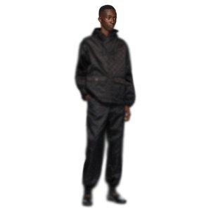 20FW otoño del resorte de Jacquard chándales de los hombres de la calle de las mujeres al aire libre chaqueta con capucha de la cremallera de los pantalones Set Outwear Pant desgaste del juego del deporte HFYMTZ042