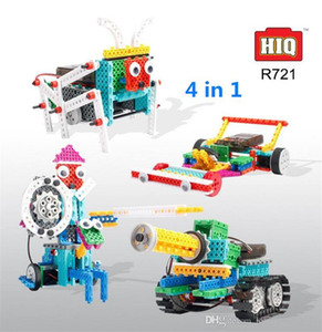 RC Robot Toys 4 In 1 237Pcs DIY Assembled Building Blocks Tank Warrior Race Car Remote Control Toy Children STEM Educational Toy