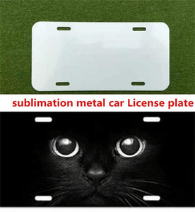 DHL big Promotion sublimation blank metal car License plate materials hot heart transfer printing diy custom consumables 29.5*14.5CM