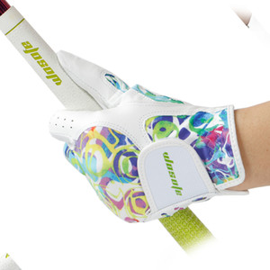 Golf glove Sheepskin women's Gloves Left Right Hand Breathable Phantom color golf glove golf accessories free shipping 201112
