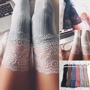 Brand New Women Winter Cable Knit Over Knee Long Boot Thigh-high Warm Stockings Lace Leggings