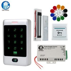 Türzugriffskontrollsystem Kit RFID-Tastatur wasserdichte Abdeckung Regenschutz + Stromversorgung + Elektronische elektrische elektromagnetische Strike Locks1