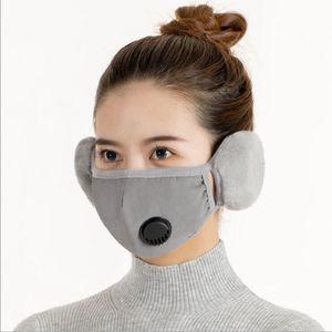 Ohrschutzventil Masken Ohrenschützer Warme Mundabdeckung Schutzmasken Dicke Mundmuffel Ohrflasche Radfahren Wiederverwendbare Masken 2 in 1 Maske EWC3498