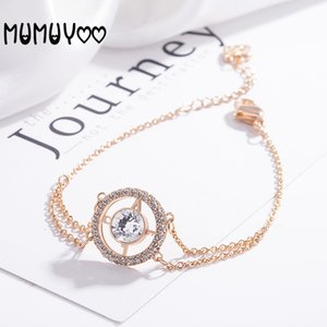 High Quality European and American Simple New Round Crystal Women's Bracelet