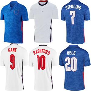 Nouveau 2020 2021 Dele Alli Soccer Jerseys Kane Rashford Vardy Lingard Sterling Sterling Shirt de football Jerseymen Kit