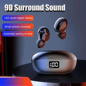 Nedoz HKT-6 new TWS wireless bluetooth earbud digital display sports waterproof in-ear subwoofer earphone