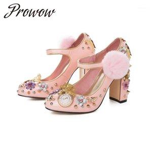 Prowow 2020 New Fashion Women's Shoes Diamond Rivets1
