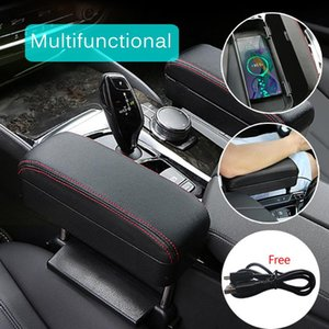 2020 Hot Car Auto Interior Wireless Charging Multifunctional Armrest Box Pad Central Control Lengthened Heightened Storage Box