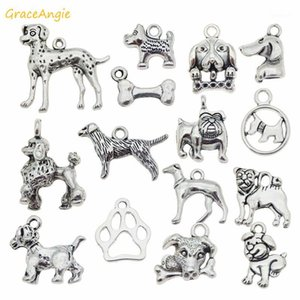 GraceAngie 15pcs lot Mixed Puppy Dog Charms Jewelry Making Necklace Pendants Bracelet Charms Jewelry Findings DIY Accessory1