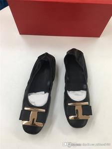 2020 Lady Sandali Pompa Jerry con Vara Bow, Classic Tacchi alti gelatina molli pattini casuali in scarpe di pelle di agnello, con la scatola originale