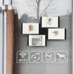 Multi-châssis Blanc Noir bricolage Cadres Home Décor transparent multifonctions Accueil outil Cadres photo Set avec Nail 46i9 #