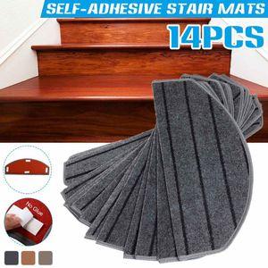 14 pcs / set pads de escadas auto-adesivas semi-curvadas 65x24cm anti-slip home tapete tapete pegajoso inferior repetidamente use almofadas de segurança