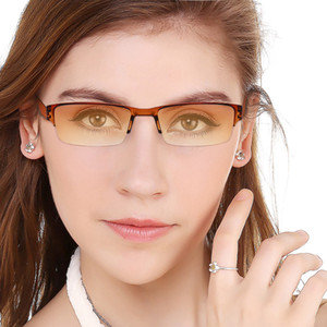 Ultralight Half Frame Reading Glasses For Women&Men Integrated Duotone Magnify Spectacles Glasses With Diopter+1.0to+4.0