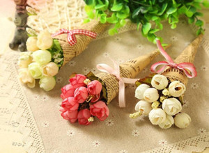 Home decoration Christmas Valentine gift 2018 HOT Holiday simulation Flower photography props wholesale handmade newspaper flowers HWE3988