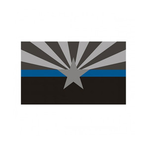 Arizona Thin Blue Line Flag 3x5 FT Polizei Banner 90x150cm Festival-Party-Geschenk 100D Polyester Indoor Outdoor Printed Flaggen und Banner