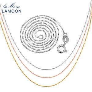 Lamoon classique 40cm 925 vénitienne en argent sterling de la chaîne pour hommes et femmes CI007