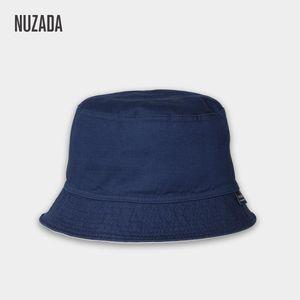 NUZADA Sunscreen Men Women Bucket Hat Caps Summer Autumn Solid Color Fisherman High Quality Cotton Simple Hats