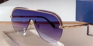 Новые моды дизайн солнцезащитные очки 1155 металлическая половина рамы пилот цельные линзы популярный стиль моды UV400 защитные очки высочайшее качество