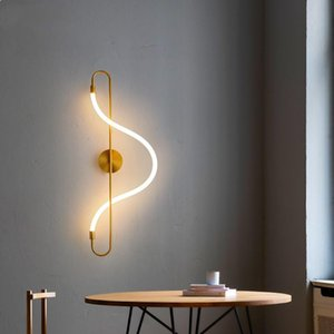Artpad Modern Led Wall Lamp Bedroom Corridor Silicone light strip Bedside Lamp Creative Design Decoration Wall Lighting