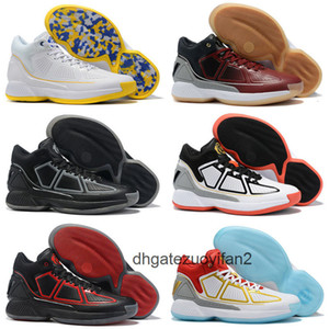 D Rose 10 YR Kids Men Basketball Shoes CNY 10th Rose Pink White Black Bounce Derrick 10s MVP Starting Wear-Resisting Boy Outdoor Shoes