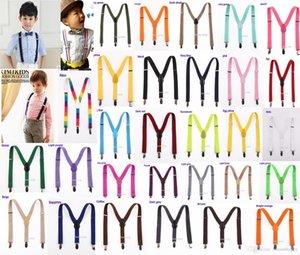 20pcs Nouveaux enfants d'enfants de filles de garçon clipser Y élastique arrière réglable cadeau Suspenders Braces Noël couleur
