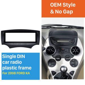 1DIN Araba Radyo Kaplaması 2008 2009 2010 2011 + Ford Ka Stereo Radyo Kurulum Dash Dağı Kiti Outter Frame 182 * 53mm olarak