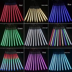 30см 8lamps / комплект рождественских украшений огней Meteor Shower лампа Набор светодиодные Бар Декоративные Открытый водонепроницаемый труба цветного свет AHA1799