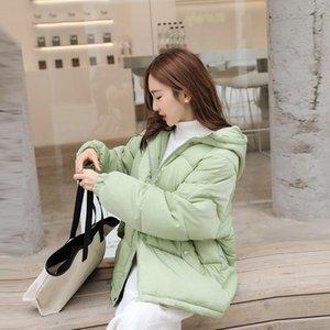 roupas de inverno quente com capuz Outwear algodão 2020 New casaco de Inverno Mulheres curto Big Size Cotton Casacos solto da fêmea casaco acolchoado