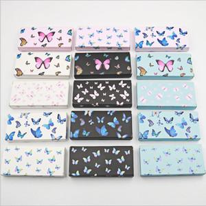 100pcs / lot Rechteck-Schmetterling Lash Boxes Verpackung für Mink Lashes Papier Material Großhandel Wimpern-Kasten-Kasten leeren