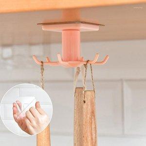 Kostenloser perforierter Haken Küchenwand Lagergestell Rotationshaken Spatel Löffel Küchenutensilien Lagerung Rotary Mehrzweck Haken1