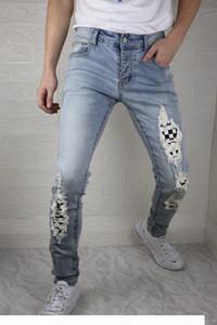 Mens Designer New Style Brand Washed Casual Slim Am Denim Stretch Denim Skinny Jeans Straight Biker Skinny Jeans Size 29-38