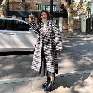 Fat Jia Jia large size custom plover coat women autumn winter new fat MM slim in long woolen coat