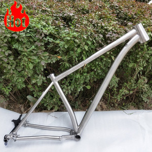 Factory direct sale new disign and popular titanium alloy MTB bike frame gr9 18''with high quality