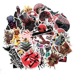 65pcs Japan Bushidou Warrior Stickers For Laptop PVC Graffiti Stickers Decal Suitcase Luggage Guitar Car Decal stickers